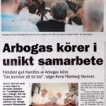Arboga Tidning 12/5 2011.